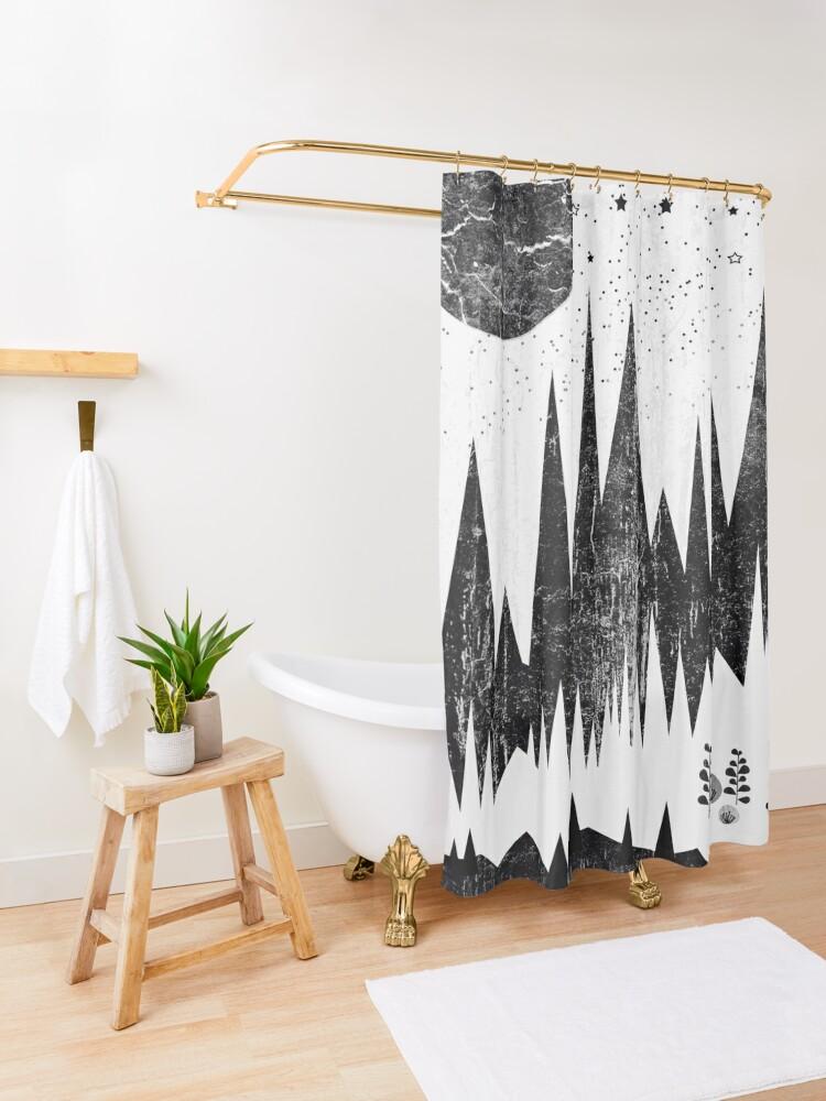 Alternate view of Moonshine Shower Curtain