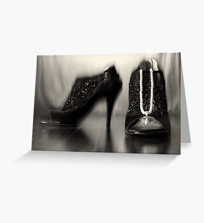 Shoe Bling Greeting Card