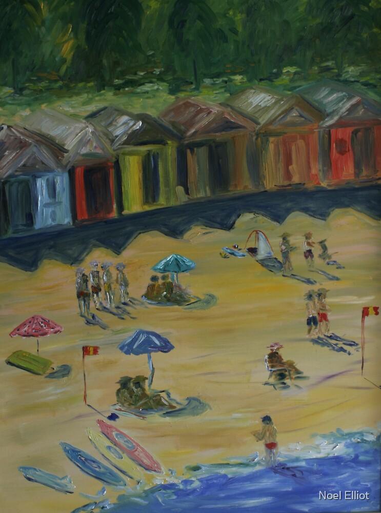 Hats On The Beach by Noel Elliot