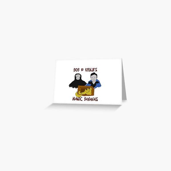 Magic Bananas [Red Font] Greeting Card