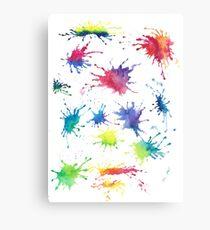 Color splashes Canvas Print