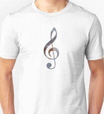 Treble Clef - Galaxy T-Shirt