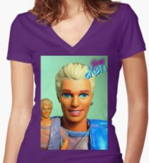 GAY KEN Women's Fitted V-Neck T-Shirt