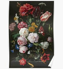 Jan Davidsz. De Heem - Still Life With Flowers In A Glass Vase, 1683 Poster