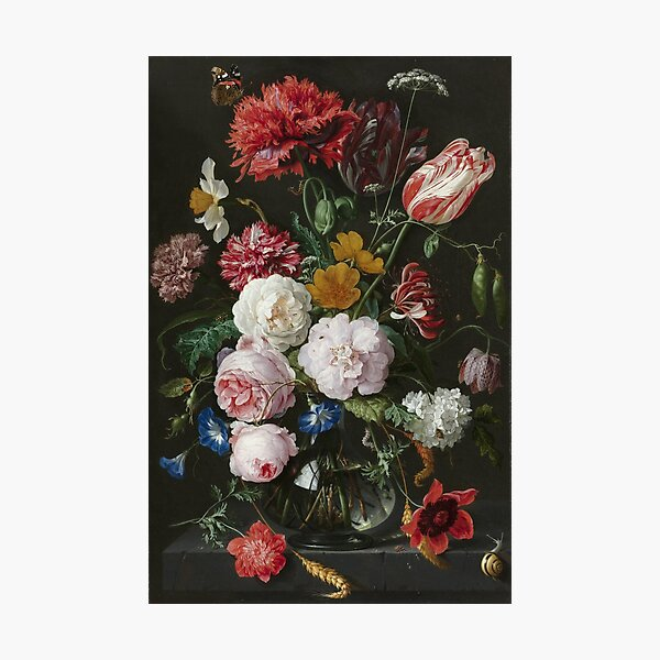 Jan Davidsz. De Heem - Still Life With Flowers In A Glass Vase, 1683 Photographic Print