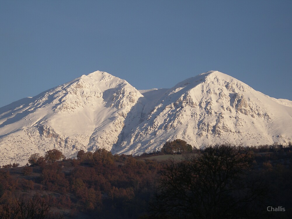 Another view of Monte Velino from Antrosano, Italy by Challis