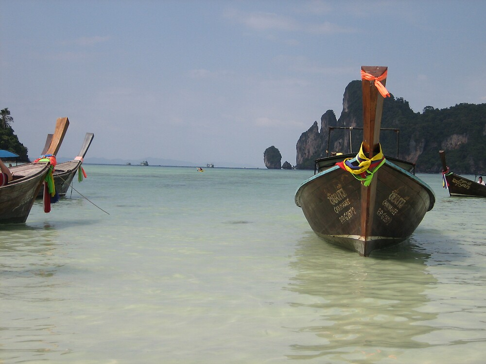Long Boat - Phi Phi Island by Bill McRobb