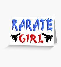 Karate Girl Greeting Card