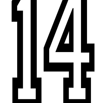 14, TEAM SPORTS, NUMBER 14, FOURTEEN, FOURTEENTH, Competition,  by TOMSREDBUBBLE