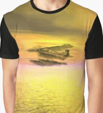 Seaplane Flight at Sunset Graphic T-Shirt