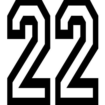22, TEAM, SPORTS, NUMBER 22, TWENTY, TWO, Twenty Second, Competition,  by TOMSREDBUBBLE
