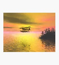 Seaplane Flight at Sunset Photographic Print