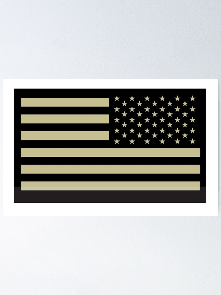 United States Air Force American Flag Design Poster 2 Sizes Available
