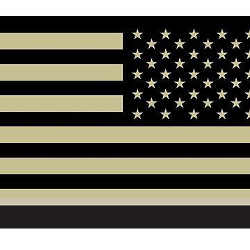 AMERICAN ARMY, Soldier, American Military, Arm Flag, US Military, IR, Infrared, USA, Flag, Reverse side flag, on BLACK by TOMSREDBUBBLE