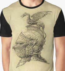 Knight Fantasy Grunge Graphic T-Shirt