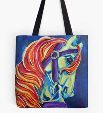 Colorful Horse - Acrylic Painting Tote Bag