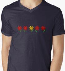 Flowers in a Row Men's V-Neck T-Shirt
