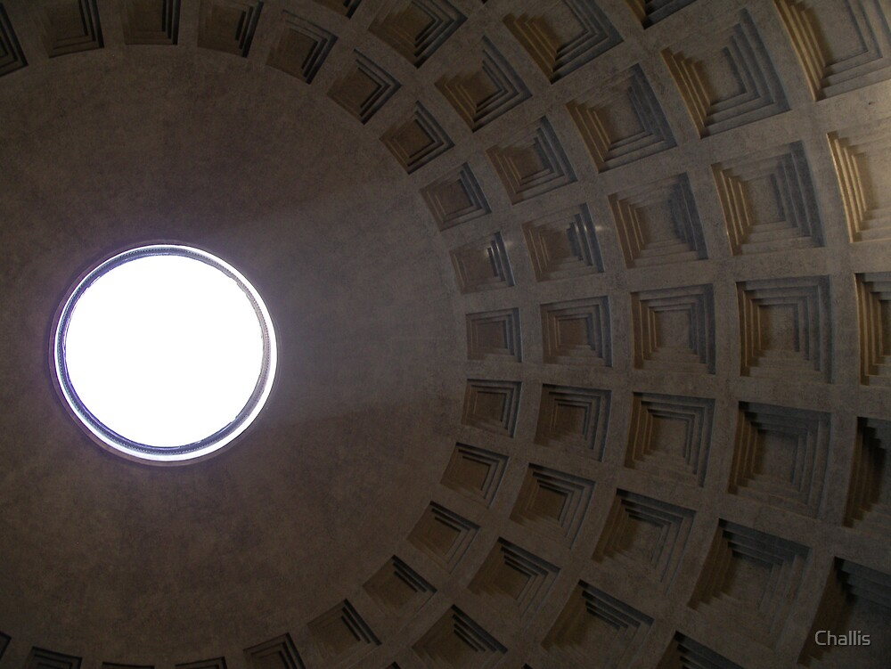 Pantheon-A view from inside by Challis