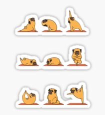 Pug Yoga Sticker