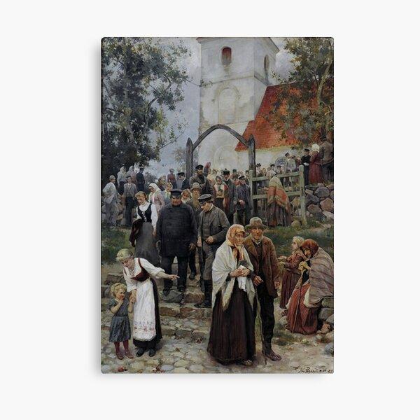 Janis Rozentals After Church Canvas Print