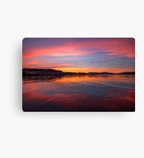 Sun setting over The Firth of Clyde, Gourock - Scotland Canvas Print