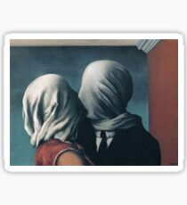 Les Amants by René Magritte Sticker