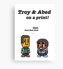 Troy & Abed · Community · TV show Canvas Print