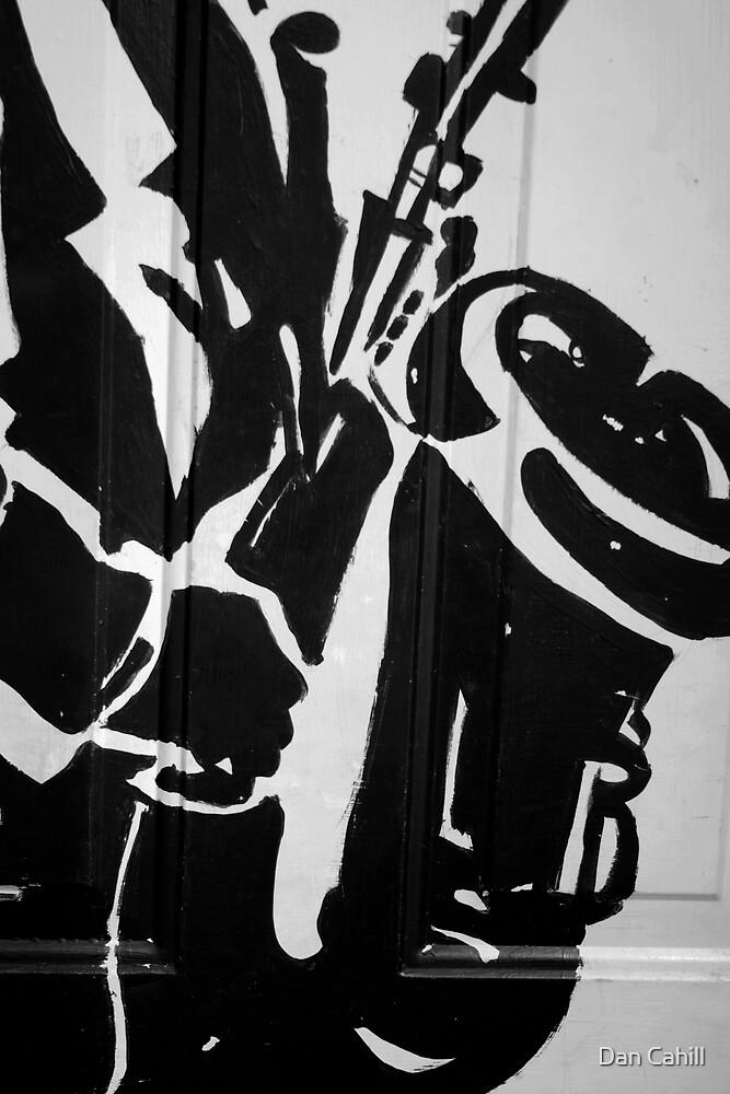 On A Solo Saxaphone (B&W) by Dan Cahill