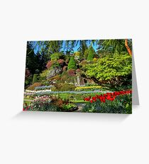 BUTCHART Gardens in Spring, Greeting Card