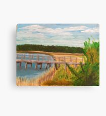 River View - Plein Air Acrylic Painting  Canvas Print