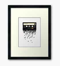 The death of the cassette tape. Framed Print