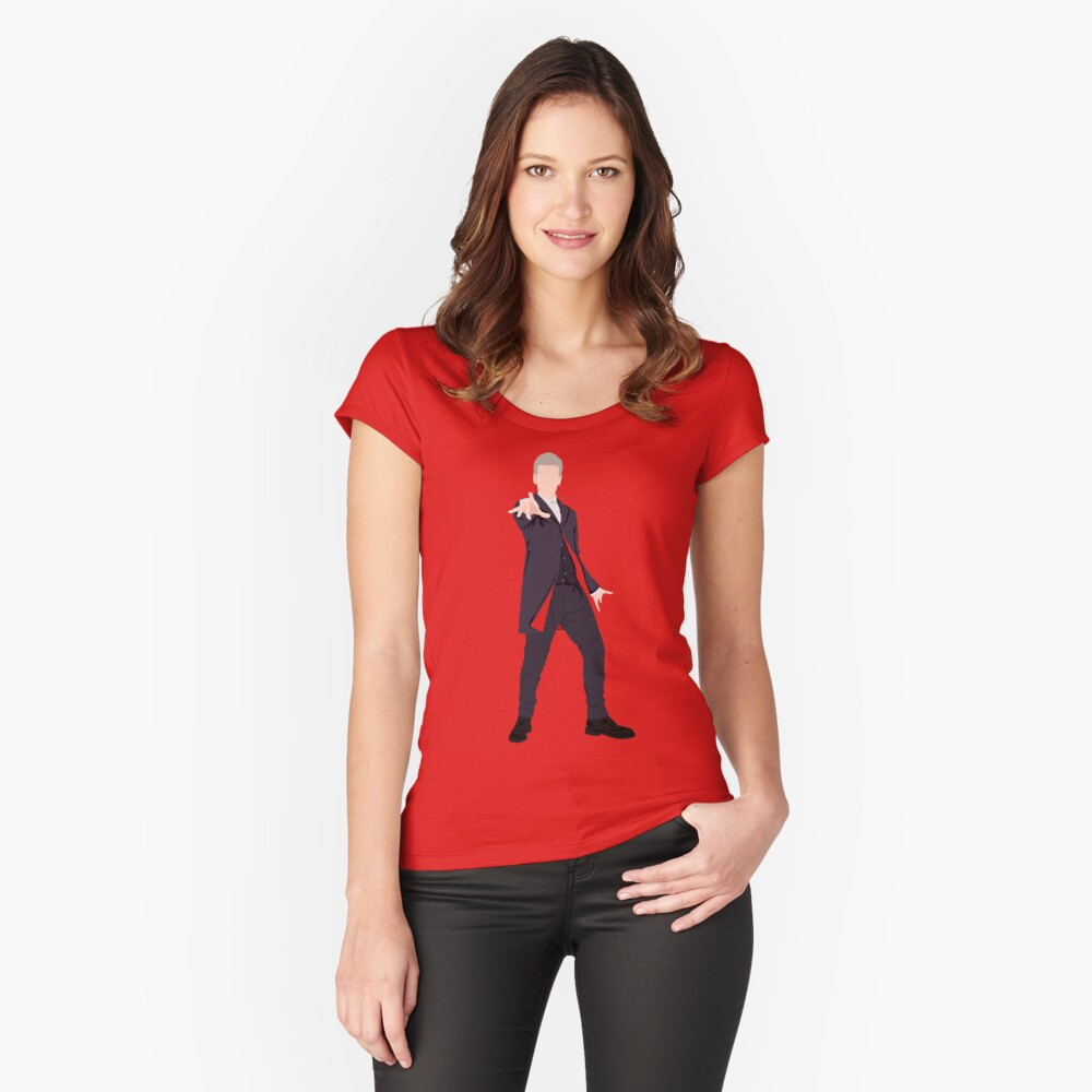 12th Doctor Women's Fitted Scoop T-Shirt Front