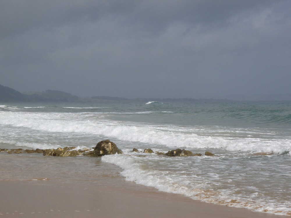 stormy day at Cooee beach by gaylene
