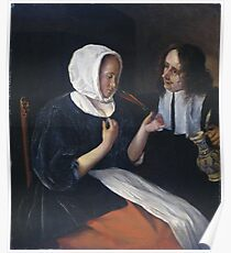 Jan Steen - A Couple Drinking, 1679 Poster