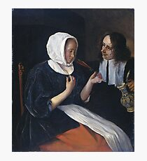 Jan Steen - A Couple Drinking, 1679 Photographic Print