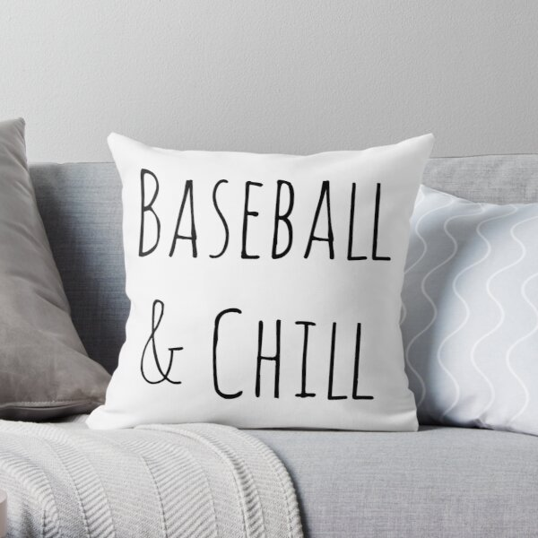 Baseball and Chill Throw Pillow