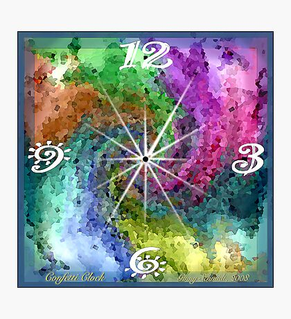 Confetti Clock Photographic Print