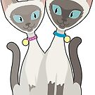 Siamese Cats by Maria Bell