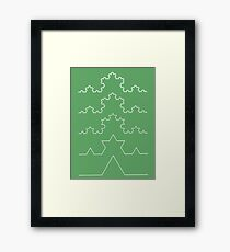The Koch Curve Framed Print