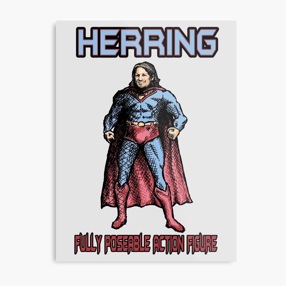 Richard Herring Action Figure Metal Print