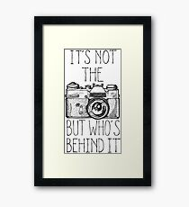 Camera black ink Framed Print