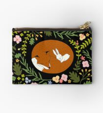 Friendship Fox-Rabbit_BgBlack Studio Pouch