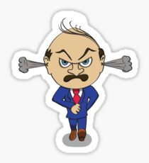 Angry Boss Sticker