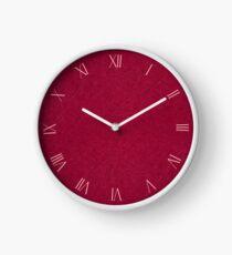 Dark red ragged cardboard closeup texture Clock