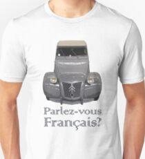 """Citroen 2CV - """"Parlez-vous français?"""" Unisex T-Shirt"""