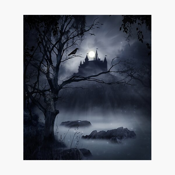 Gothic Night Fantasy Photographic Print
