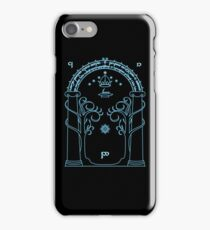Speak Friend and Enter, The gates of moria iPhone Case/Skin