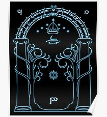 Speak Friend and Enter, The gates of moria Poster