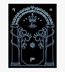 Speak Friend and Enter, The gates of moria Photographic Print
