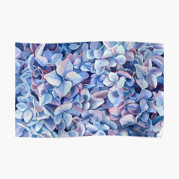"""Blue hydrangea"" Poster"